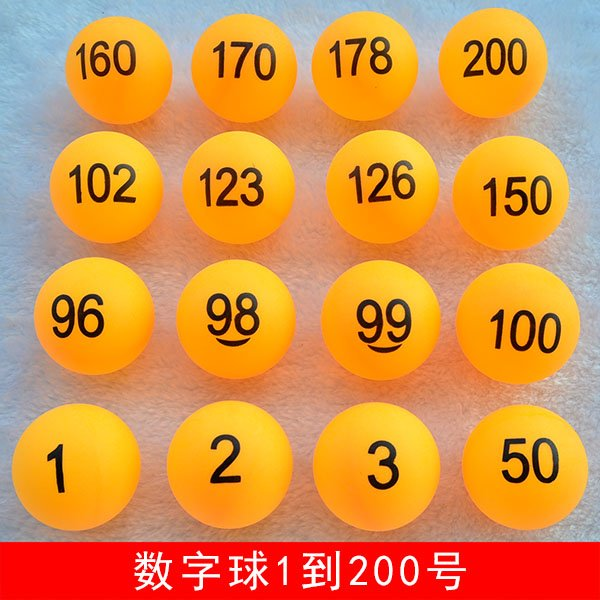 Party Lottery balls Number Numbering 1 to 200 Solid Orange Color Lucky Draw Ball