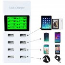New 8 Ports USB Home Wall Travel AC Power Charger Adapter for Smartphones Phone