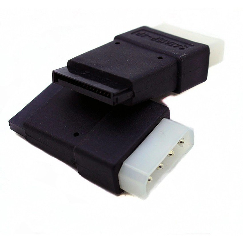 4 Pin Molex PC IDE Male to 15 pin SATA Female Power Adapter convertor connector