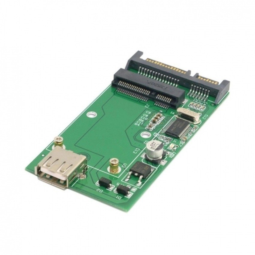 "Mini pcie mSATA SSD to 2.5"" SATA 6.0 Gbps and mSATA SSD to USB 2.0 adapter card"