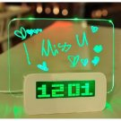 LED Message Board Highlight Highlighter Digital Alarm Clock With 4 Port USB Hub