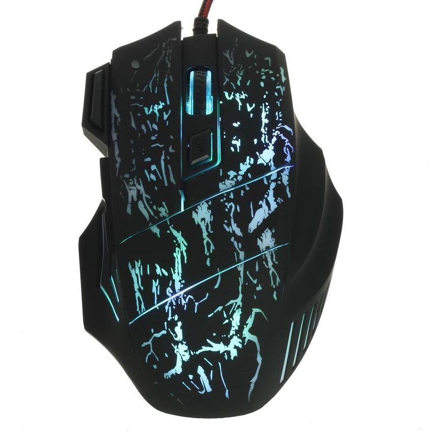 5500 DPI 7 Button LED Optical USB Wired Gaming Mouse Smart Mice PC Laptop Game