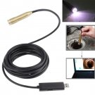 Waterproof USB Cable Wire Camera Endoscope  4 LED Light Support Video recorder