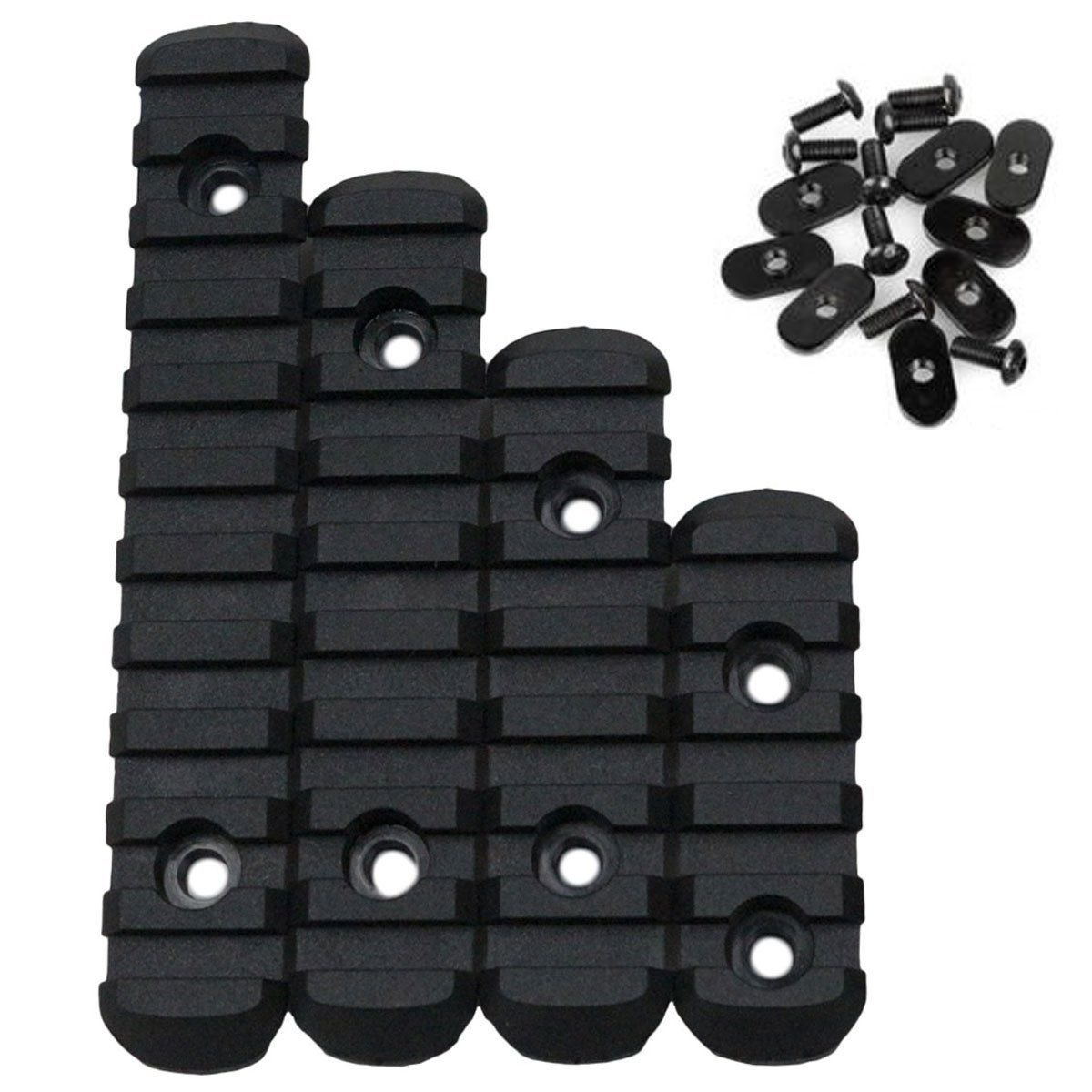 Black Tactical Advanced Polymer Rail Sheet Section Set for MOE Hand Guard Handguard