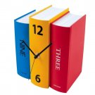 3 Colored Colorful Battery Operated 3D Book Design Modern Shelf Table Clock