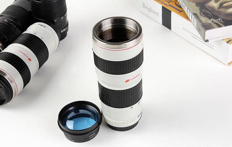 Camera Lens Shaped for Canon EF 70 - 200mm Drink Drinks Thermos Coffee Cup Mug