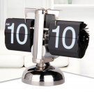 Metal Desk Table Retro Time Clock Modern Scale Digital Auto Flip Down Single Stand