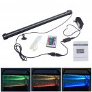 RGB Color LED Aquarium Fish Tank Light Waterproof Bar Submersible Lamp w/ Remote