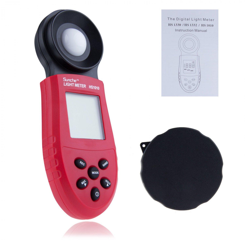 Test 200,000 Lux Digital Light Meter Luxmeter FC Meters Luminometer Photometer