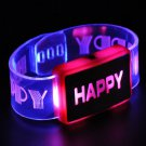 Happy Letter Voice Activated Sound Control Led Flashing Night Club Bracelet Wristband