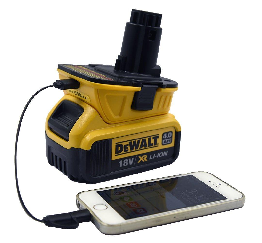 20V To 18V Battery Tool Converter USB Adapter For Dewalt Slide Li-Ion Battery