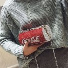 Women Cute Rhinestone Cola Can Bottle Shape Clutch Bag Party Purse Chain Handbag