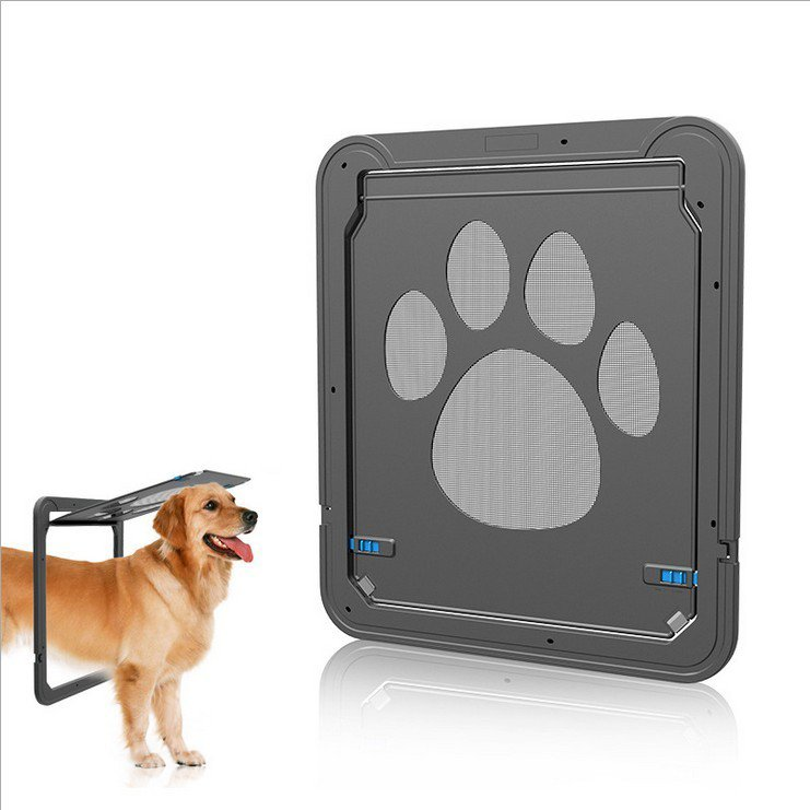 """Pet Screen Door Automatic Lock Pets exit for Dog Door Outdoor Screen 12""""x 14"""""""