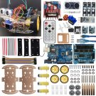 4WD Robot Car Kit UNO BLE4 IR DIY iOS Android Bluetooth control for Arduino