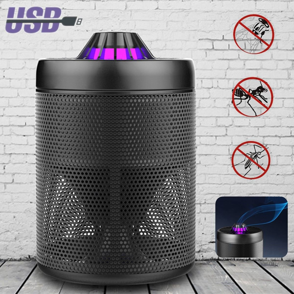 Ultrasonic Insect Killer Electricalequipmentcircuit Circuit Mosquito Zapper Led Lightled Light Bulb With Usb Uv Catch Trap