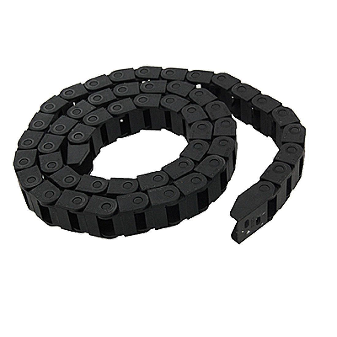 10 x 20 mm Black Plastic Drag Chain Cable Carrier For CNC Router Mill 3D Printer