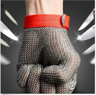 Grade 5 Safety Cut Proof Stab Resistant Stainless Steel Wire Metal Mesh Glove