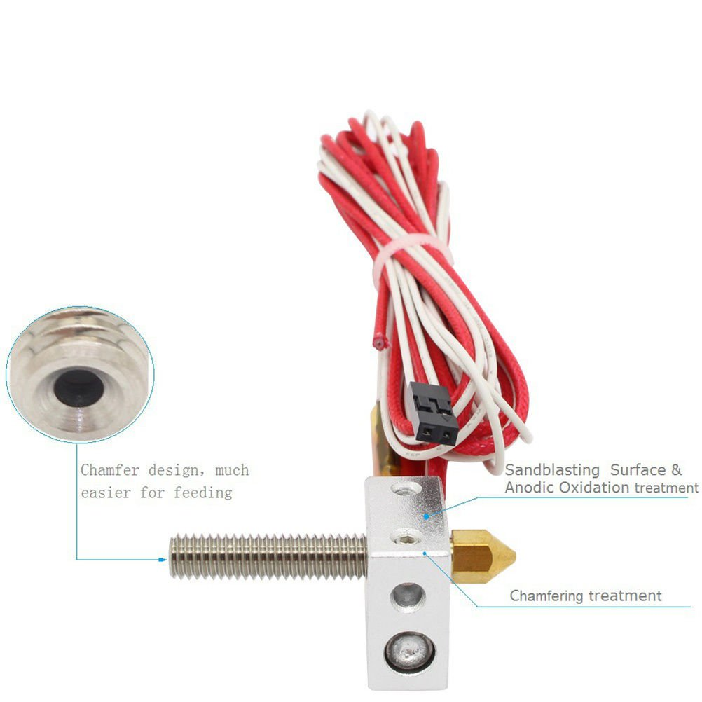 Assembled Extruder Part Hot End for 3D Printer Filament Direct Feed 12V Nozzle
