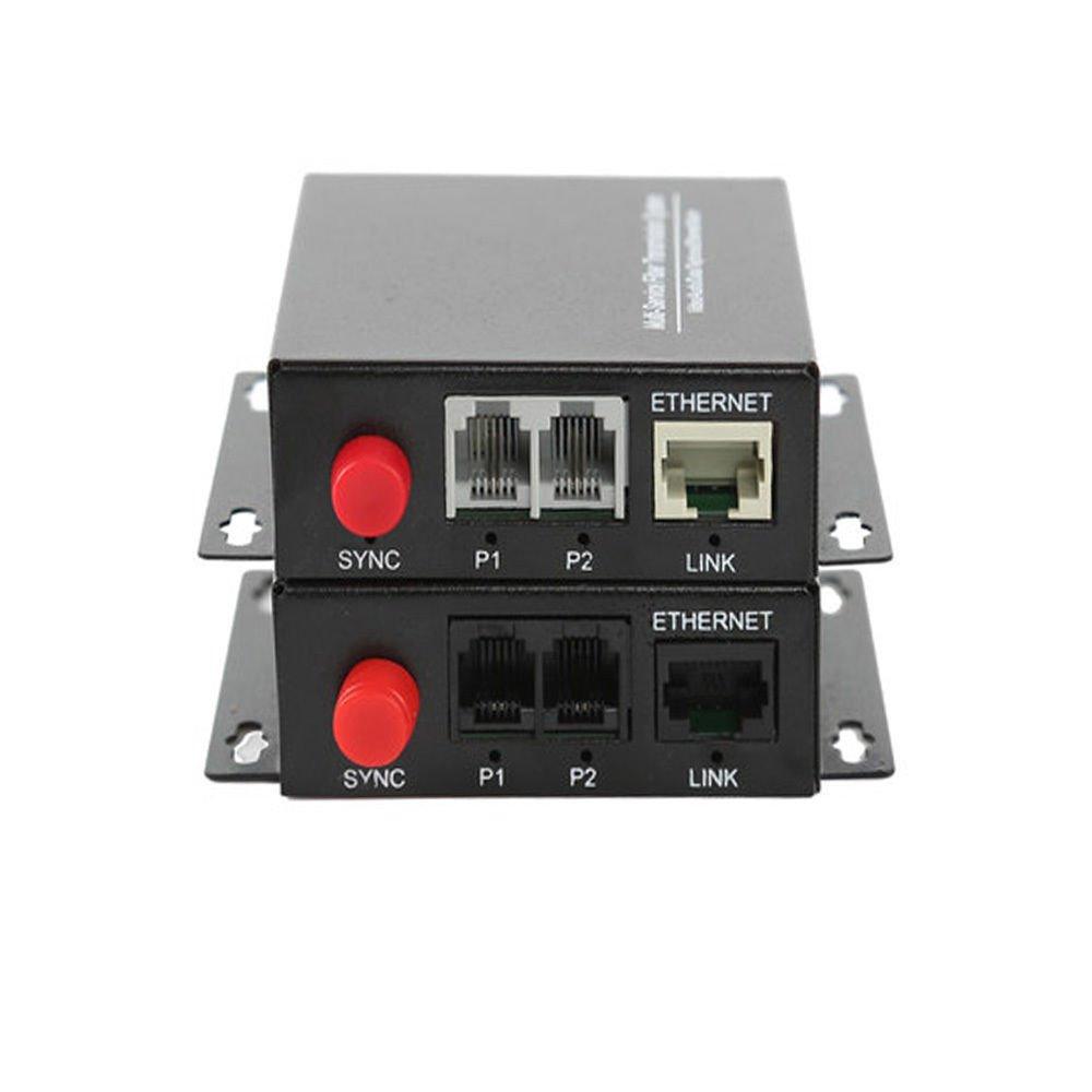 2 Channel PCM Voice Telephone Fiber Optical Media Converter Transmitter Receiver