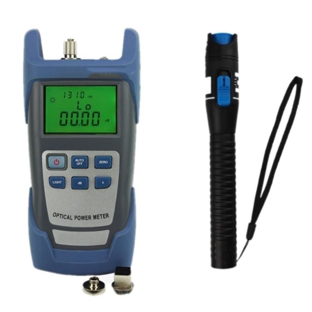 Portable Fiber Optic Visual Fault Locator Cable Tester w/ Optical Power Meter