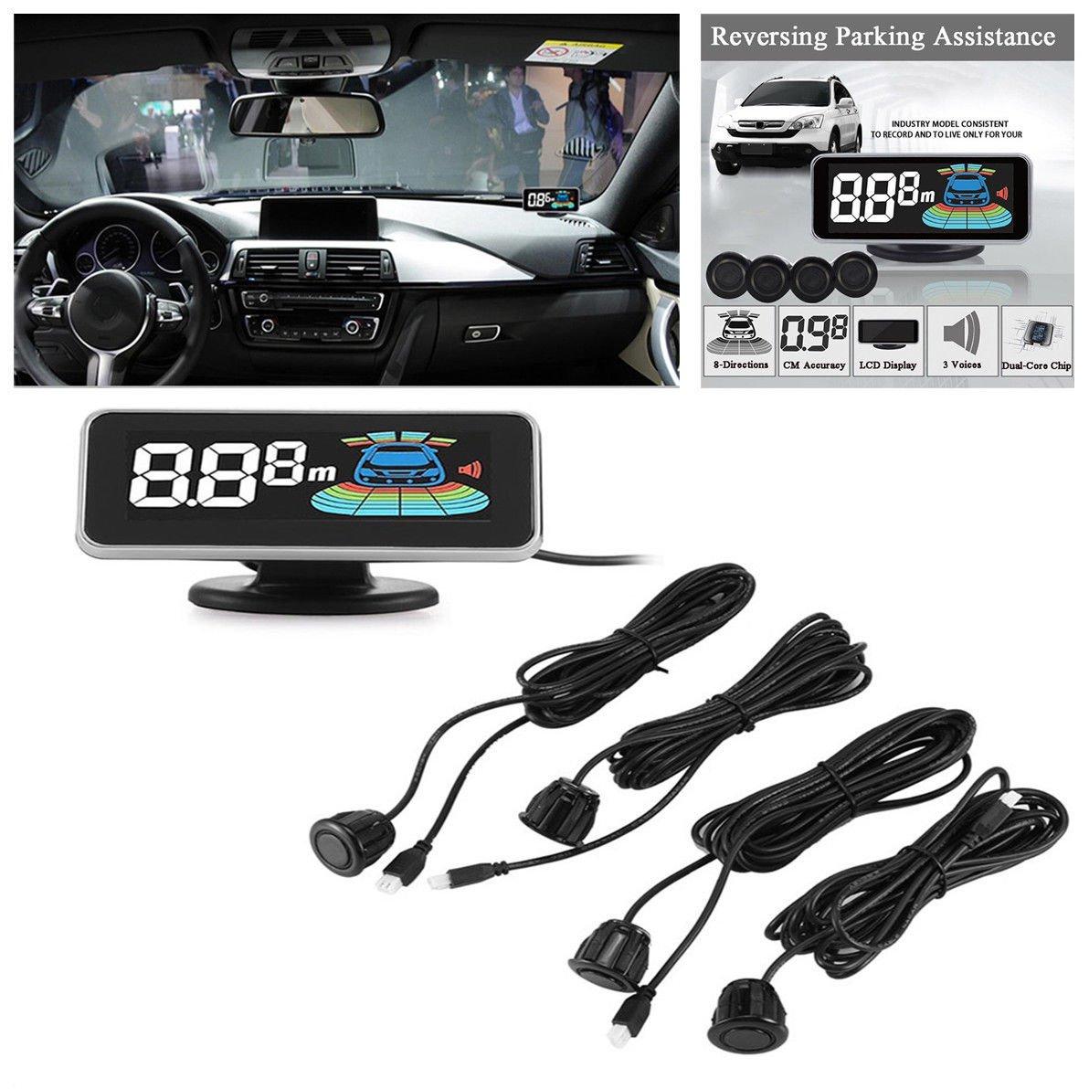 LCD Display Car Parking Sensor Rear Front View Reverse Radar Alert Alarm System