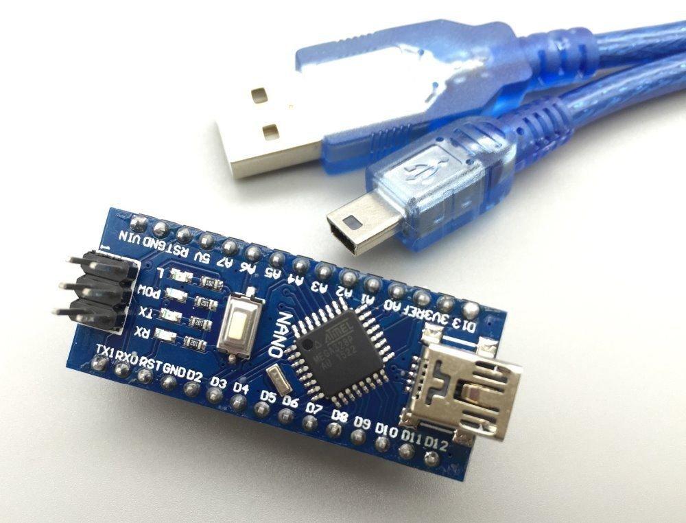 Nano 3.0 ATMEGA 328P-AU Chip Controller Compatible for Arduino CH340 USB Cable
