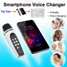 Smartphone Cellphone Mobile Phone Microphone Change Voice Changer w/ Earphones