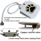 Step Drinking Water Fountain Dog Sprinkler Dispenser Paw Activated for Pet Pets