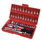 Spanner Socket Vehicle Car Hand Repair Tool Ratchet Set Torque Wrench Set Box