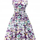 Summer Ladies Floral Print Sleeveless Evening Party Cocktail Bodycon Mini Dress