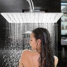 "12"" Square Stainless Steel Rain Bath Shower Head Rainfall Bathroom Top Sprayer"