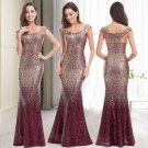 Pretty Elegant Sequin Dresses Maxi Mother of Bride Dress Long Evening Prom Gowns