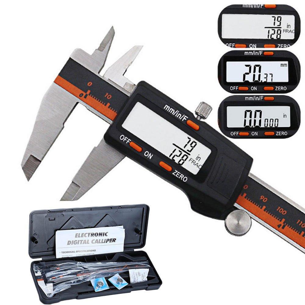 Stainless Steel Digital Ruler Vernier LCD Caliper Gauge Micrometer Measure Tools