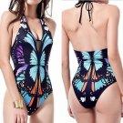 One Piece Floral Printed Beach Swimwear Swimsuit Monokini Push Up Padded Bikini