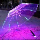 LED Blade Runner Change Color Flashlight Flash Light Transparent Handle Umbrella