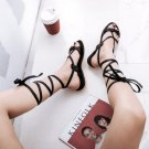 Cross Tie Ankle Straps Lace Up Flip Flops Sandals Flat Heels Summer Casual Shoes