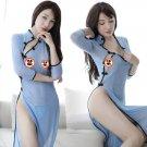 Retro Side Split Long Dress Sexy Cheongsam Cosplay School Lingerie Nightwear
