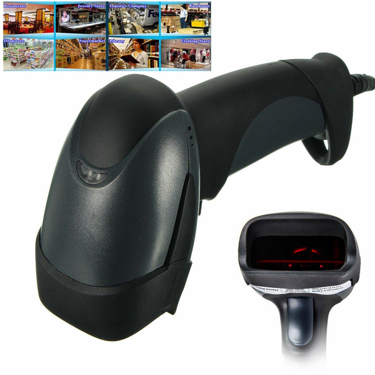 Long Handheld USB Port Laser Barcode Scanner Bar Code Reader For POS Label Shop