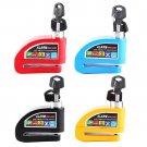 Motorcycle Bike Anti theft Wheel Disc Brake Safety Safe Lock Security Alarm Key