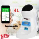 4L Automatic Program Programmable Auto Pet Cat Puppy Dog Feeder Food Dispenser