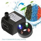 Submersible Water Pump LED Light Fish Pond Waterfall Sump Aquarium Tank Fountain