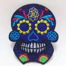 Colorful Skull Iron on Patch size 7x9 cm