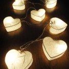 Heart String Lights White (20 Lights)