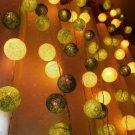String Lights - Cotton Ball, wall hanging, home decor.