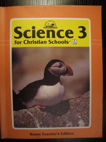 BJU Bob Jones Science 3 Home Teachers Edition TE 1995