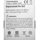 1615mAh AE737173025076 Battery for Sirius Stiletto 2 SL2 XM SL2PK1 01070000014
