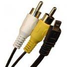 8 Pin AV Audio Video Cable Cord for Casio Exilim Digital Cameras