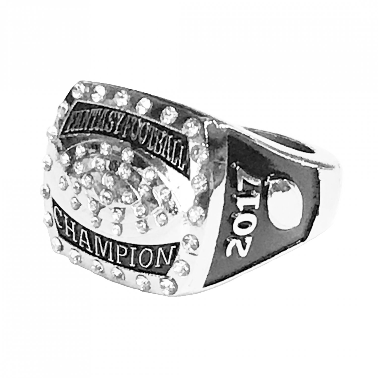 Fantasy Football Championship Ring Trophy League Champion Champ 2017 (Size 12)