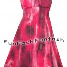 GP2 FUNFASH PLUS SIZE DRESS PINK BLACK EMPIRE WAIST COCKTAIL DRESS SIZE 1X 18 20