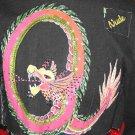 SeXy Beaded  Black Denim Jacket Dragon Size XS 0 1